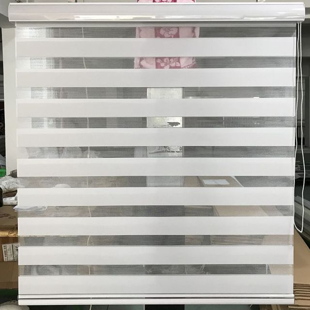 Horizontal Sheer Shade Blind Zebra Dual Roller Blinds