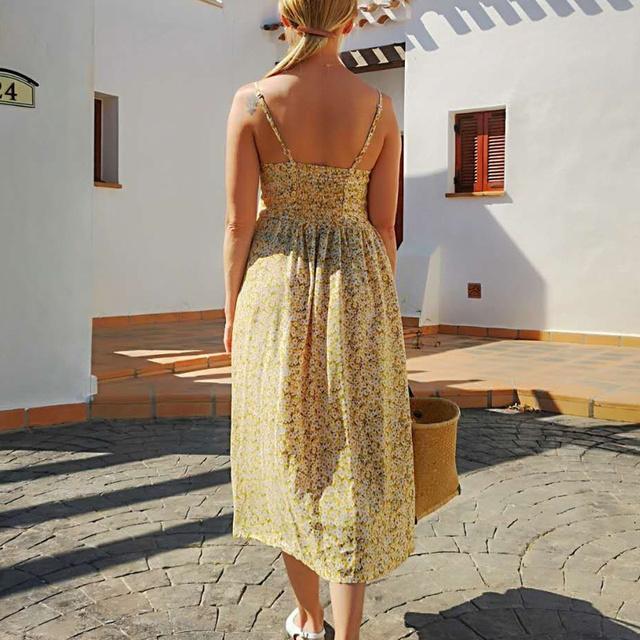 Sexy Straps Bohemian Floral Tunic Beach Dress