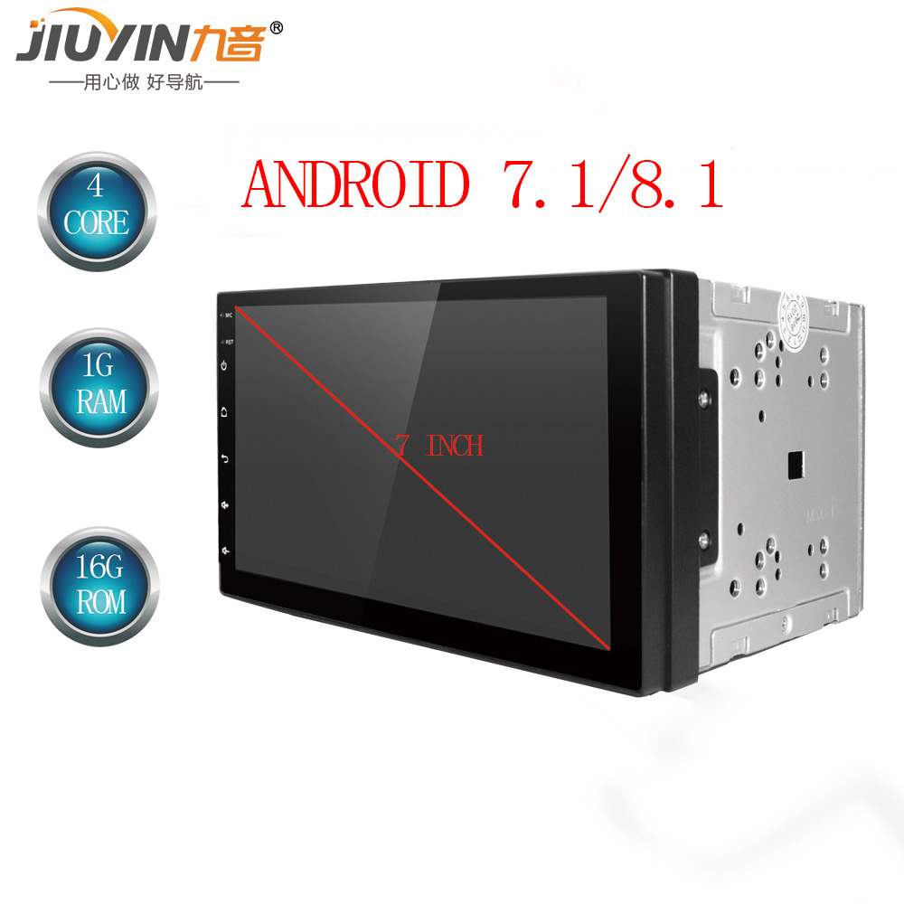 JIUYIN Android 8.1 2 Din Car radio Multimedia Video Player Universal auto GPS MAP For Volkswagen Nissan Hyundai Kia toyata CR V