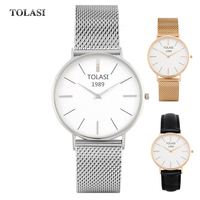 2017 TOLASI Brand Ladies Quartz Analog Watch DW Style Men S Watches Fashion Women Japan Pc21