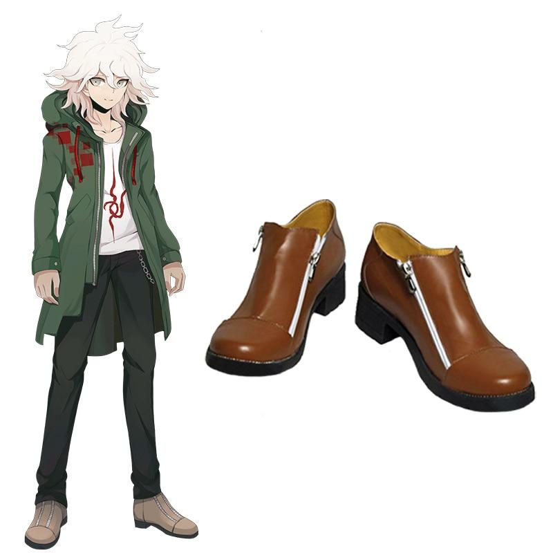 Anime Super Danganronpa 2 Nagito Komaeda Cosplay Shoes Boots Custom Size Halloween Costumes
