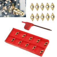 10pcs Lot Carbide Inserts DCMT070204 US735 DCMT21 51 Inserts With Wrench For Lathe Turning Tool