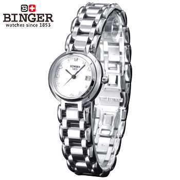 Newest Fashion Brand Women Rose Gold Steel Watch Lady Casual Stainless Binger Quartz Wristwatch 50M Waterproof