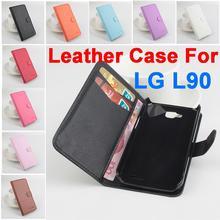 Litchi для LG L90 чехол, Хорошее качество Новый кожаный чехол + жесткий чехол для LG L90 корпус мобильного телефона в наличии