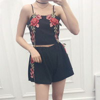 DevenGee-Sexy-Summer-Beach-Two-Piece-Set-Women-Floral-Embroidery-Vintage-Crop-Top-Shorts-Skirt-Set-White-Black-2-Piece-Outfits-1