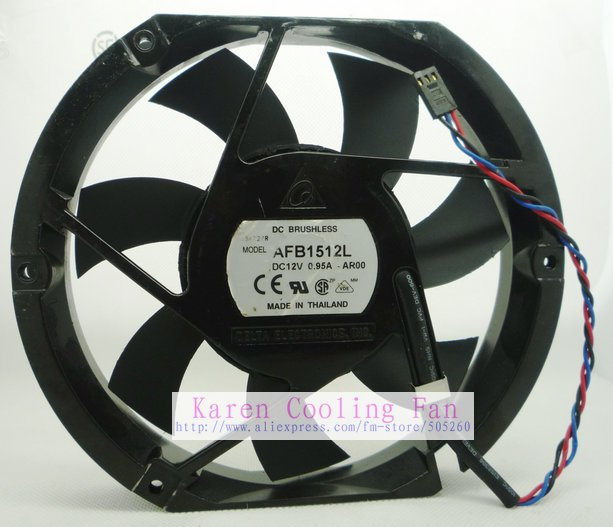 DELTA 170*150*25MM 17025 12v 0.95A AFB1512L AR00 (alarm signal )Cooling fan