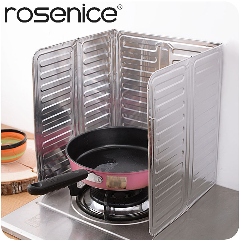 Kitchen Aluminum Shield Oil Splash Guard Gas Stove Protection Frying Cook Cover