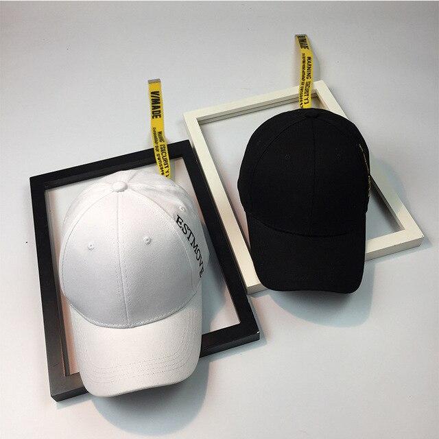 9fdec582e4a 2018 New Korean Punk Wind Hat Embroidery Letter Hip-hop Hat Tail Long  Ribbon Baseball
