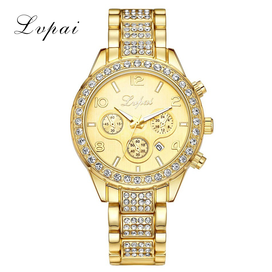 Lvpai Brand Famous Brand Watch Women Luxury Watches Japan Movt Ladies Rhinestones Wristwatches Gold Plated Date Diamond Watches radiator protective cover grill guard grille protector for suzuki hayabusa gsxr1300 2008 2009 2010 2011 2012 2013 2014 2015 2017