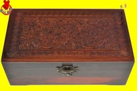 Rosewood jewelry box carved mahogany furniture decoration carving craft gift wood casket for direct manufacturers Xian