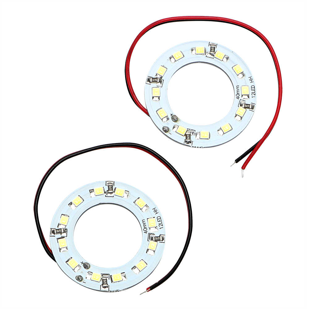 LEEPEE  Car Headlight  40MM Angel Eye Car Light 2Pcs/Set LED Daytime Running Light 12SMD 1210 3528 Auto DRL Lamp DC 12V