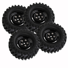 "Фотография 4pcs 96mm 1.9"" RC Crawler Wheel Rim & Rubber Tyres with Screws for 1/10 Scale RC Model Car Off Road Axial Tamiya"
