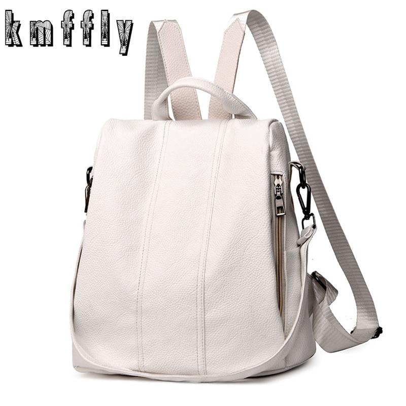 KMFFLY Women Backpack School-Bag Anti-Thief Large-Capacity Teenager Girls Travel-Bags