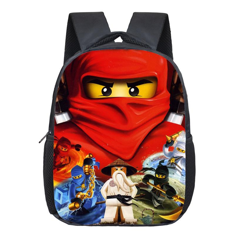 12 Inch Ninja School Bags For Kindergarten Children Kids School Backpack For Girls Boys Children's Backpacks Mochila