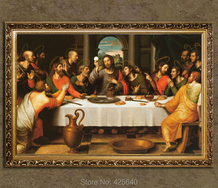 home decor jesus christ painting the last supper vii art decor painting print giclee art print