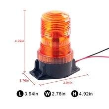 6W High Dome Beacon LED 6-Watt Flashing Rotating Beacon High-Profile Amber Strobe Warning Lamp  Emergency Light for bus