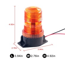 PC material High Dome Beacon LED 6-Watt Flashing Rotating Beacon High-Profile Amber Strobe Warning Lamp  Emergency Light for bus цена 2017