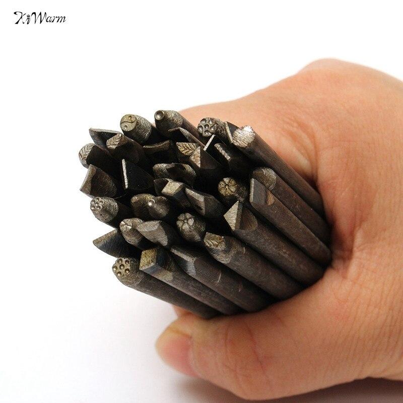 unids cuero tallado artesanal de joyera de metal de trabajo stamp set punch