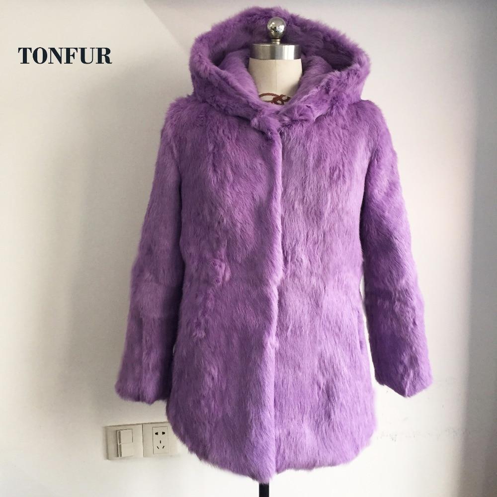 Natural Fur Full Pelt Rabbit Fur Coat  Women Long Rabbit Fur Jacket Free Shipping Customized Big Size SR162