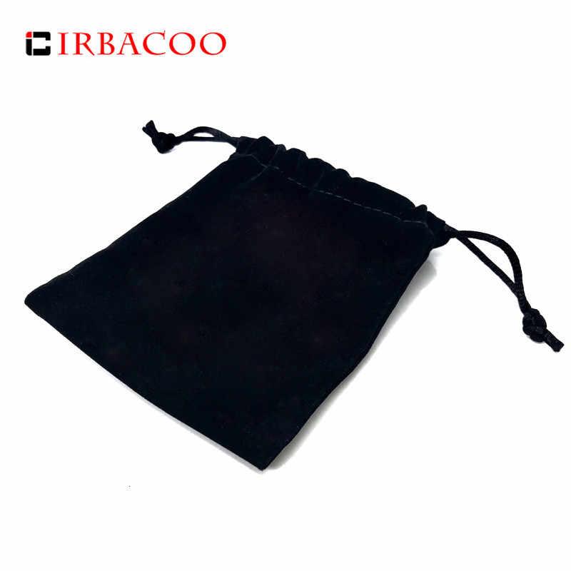 Pochette en velours noir IRBACOO de haute qualité pour Bracelet cadeau bijoux.