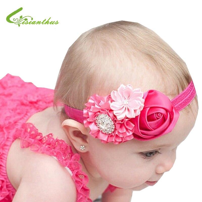 Baby Headbands Cute Bling Bling Hairbands Kids Children Girls Hair Accessories Babe Rose Flower Princess Headwear Free Drop Ship защитный детский шлем