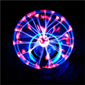 Novelty Glass Plasma Ball Sphere USB+Vehicle-Mounted+Audio Control+Gift Box Lightning Light Lamp Party 150833