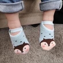 Baby Girl Boy Socks Newborns Cotton Summer Cartoon Animal Infant Anti-Slip Toddle Girls Short for 0-3Y