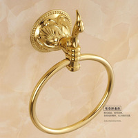 Antique Bronze Carved Polished Towel Ring European Gold Towel Holder Towel Rack Bathroom Accessories Products 006