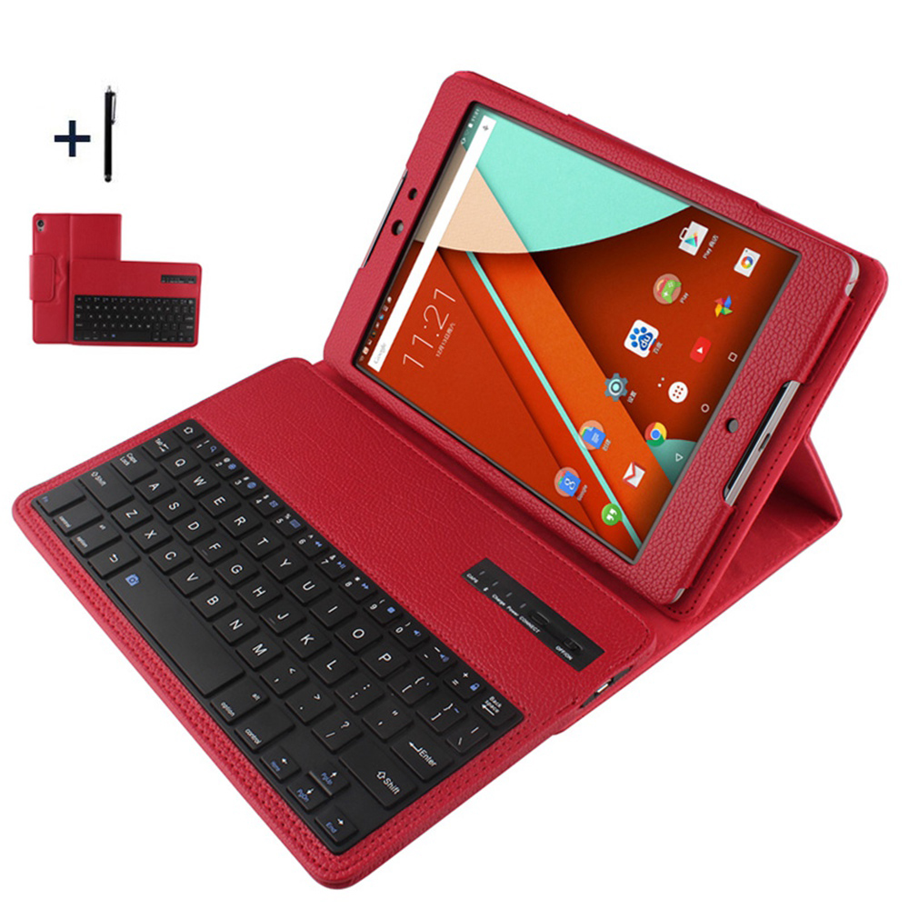 Keyboard For Google Nexus 9 Wireless Bluetooth Keyboard Case For Google Nexus 9 Tablet Detachable Flip Leather Stand Cover+Pen google nexus 9 2014