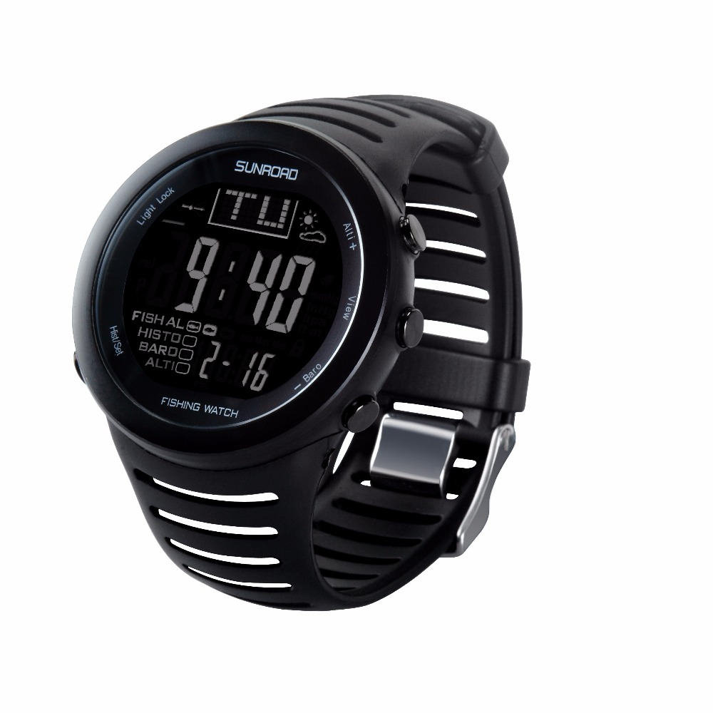 SUNROAD FR720 Men Sports Watches-Outdoor Altimeter Barometer Thermometer Altitude Climbing Hiking Digital Watch  5ATM Waterproof ezon multifunction sports watch montre hiking mountain climbing watch men women digital watches altimeter barometer reloj h009