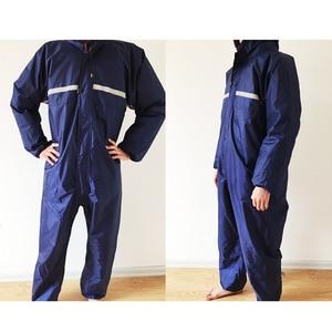 Image 1 - 1PCS Waterproof Windproof Conjoined Raincoats Overalls Electric Motorcycle Fashion Raincoat Men And Women  Rain Suit Rainwear