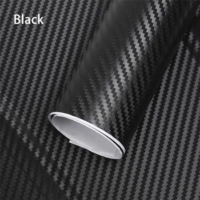 سيارة التصميم سيارة الجسم فيلم أسود الأزياء 3D الكربون الألياف ملصق فينيل لدراجة نارية سيارة قرنة td0821 دروبشيب