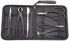 Beginner bonsai tool kit 6 PCS Long Handle Scissors Round Edge Cutter Root Pruning Scissors Wire Cutter Bonsai Tweezers