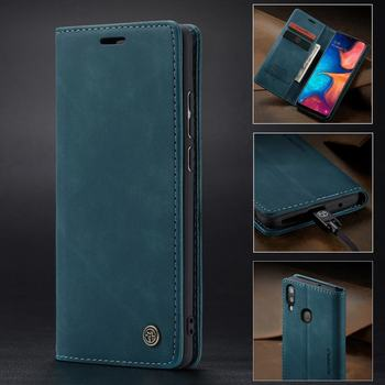 18fe407249b Funda para Samsung Galaxy A20 A30 Funda de cuero magnética Flip Wallet  teléfono libro tapa superior cubierta plegable para Samsung un 20 A 30