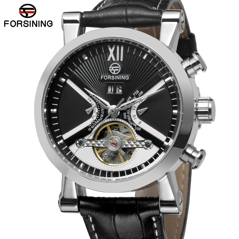 FORSINING Watch Men Sport Casual Watches Mens Top Brand Luxury Watch montre homme Automatic Mechanical Classic Wristwatch Gift forsining date month display rose gold case mens watches top brand luxury automatic watch montre homme clock men casual watch