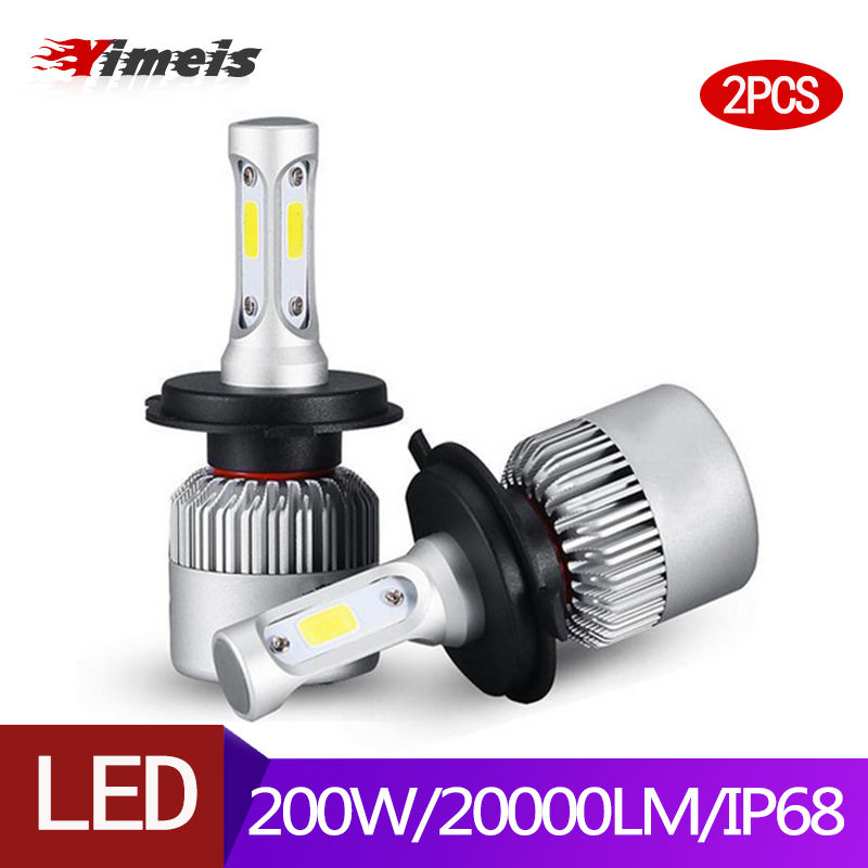 Yimeis 2pcs H7 <font><b>H4</b></font> <font><b>LED</b></font> <font><b>Bulb</b></font> Car <font><b>Headlight</b></font> <font><b>led</b></font> H1 H13 H3 H27 H11 <font><b>bulbs</b></font> Hi-Lo Beam Auto Headlamp <font><b>led</b></font> car light image