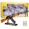 De Metal de Juguete Pistola Pistolas de Armas Arma Silah Francotirador Rifle Ak47 modelo de Armas De Armas Arma Geweer Automático Extraíble Para Niños 1:3