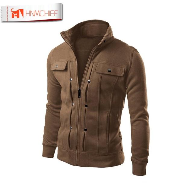 5fb44fa881fc0 Jacket Men Brand Clothing Mens Jackets Coats Zipper Fashion Fake Pocket  Design Male Jacket Casual Slim Fit Cotton