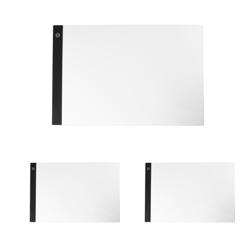 A3 Dimmable luminosité LED peinture planche à dessin tablette tactile copie plaque Ultra-mince et léger alimenté par câble USB
