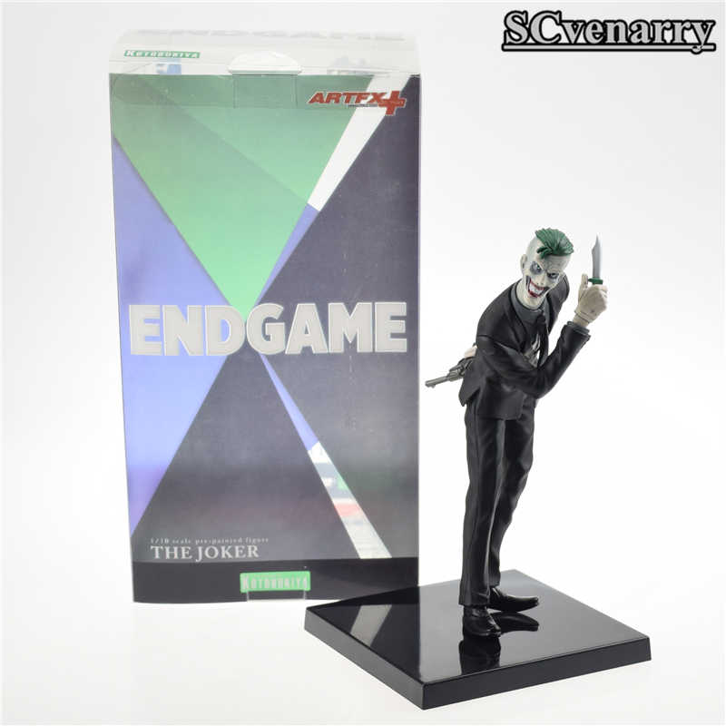 18 cm DC QUADRINHOS ARTFX + ESTÁTUA Kotobukiya The Joker pré-paintied Figura PVC Action Figure Toy Modelo