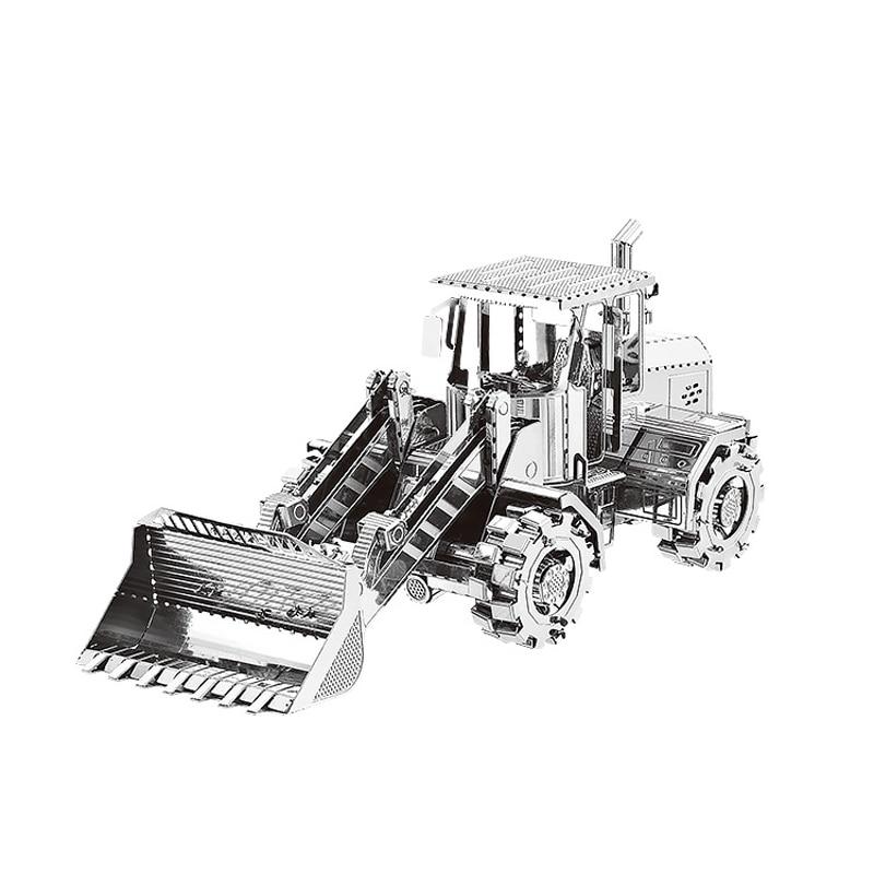 Nanyuan 3D Metal Puzzle Bulldozer coches de construcción modelo DIY - Juegos y rompecabezas