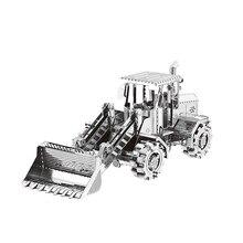 Nanyuan Metal 3D Puzzle Bulldozer Construção carros Modelo DIY Montar Brinquedos Jigsaw PRESENTE decoração de Mesa de Corte A Laser Para a Auditoria