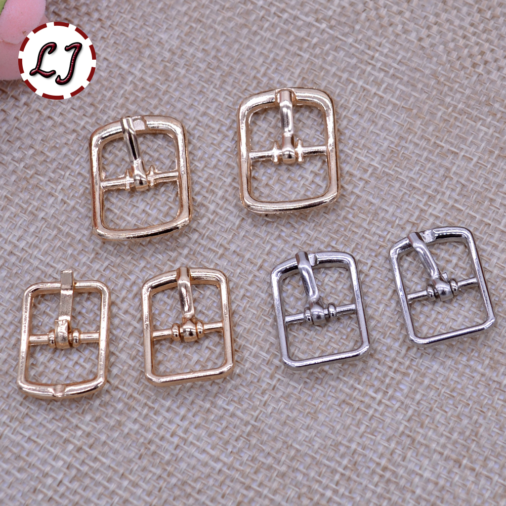 Small buckles for crafts - New Arrived 20pcs Lot 12mm 10mm Silver Gold Small Square Alloy Metal Shoes Bags Belt Buckles Diy Accessory Sewing Scrapbooking