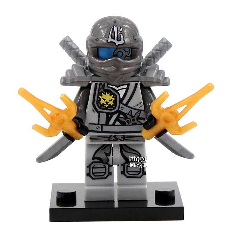 SingleSale titanium Zane фигурки Kai, jay, Cole Phantom миниатюрная фигурка ниндзя сборка модели строительные блоки детские игрушки подарки