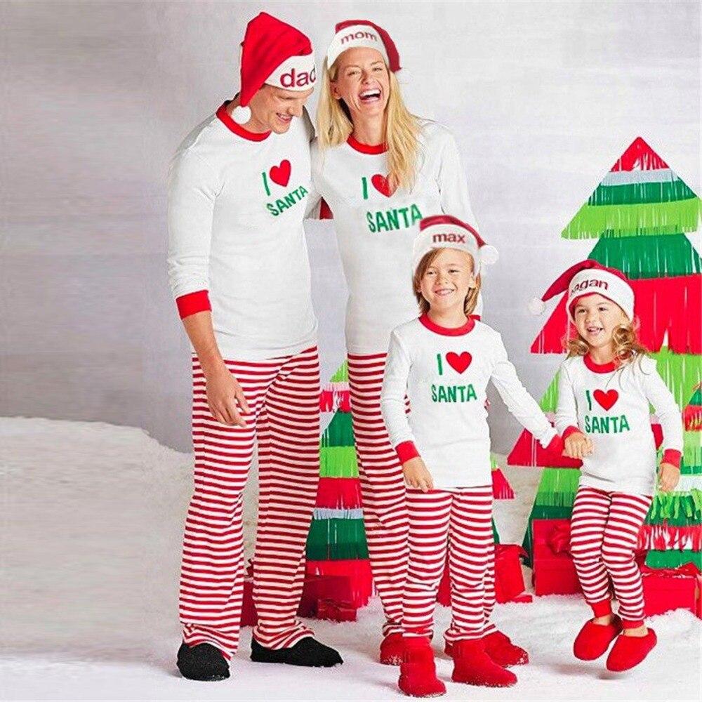 i love santa family christmas pajama