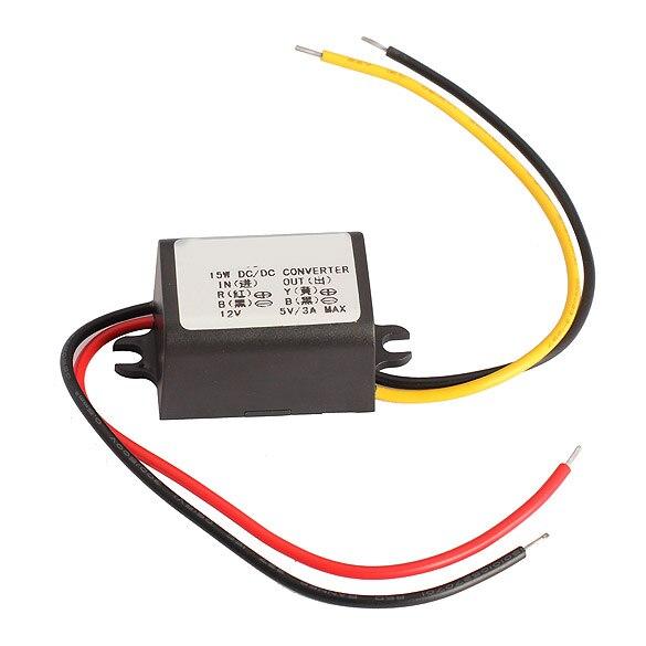 VODOOL DC/DC Buck Converter Regulator 12V to 5V 3A 15W Car Monitor Step Down Power Supply Module Accessories For Car DVR GPS