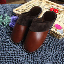 Autumn and winter fashion couple cotton slippers Korean men and women no-slip comfortable Home Furnishing warm slippers hot sale