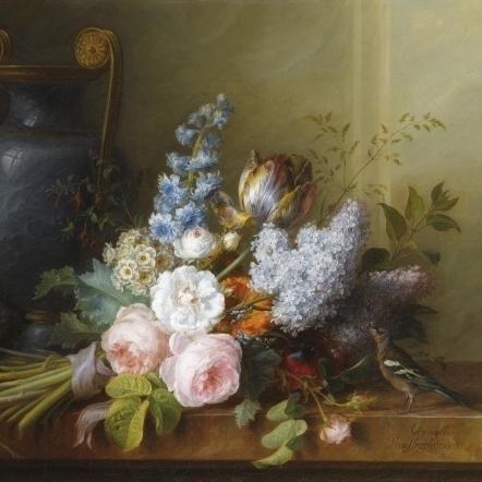Bouquet of Flowers at t Poster Print by Cornelis van Spaendonck (18 x 24)