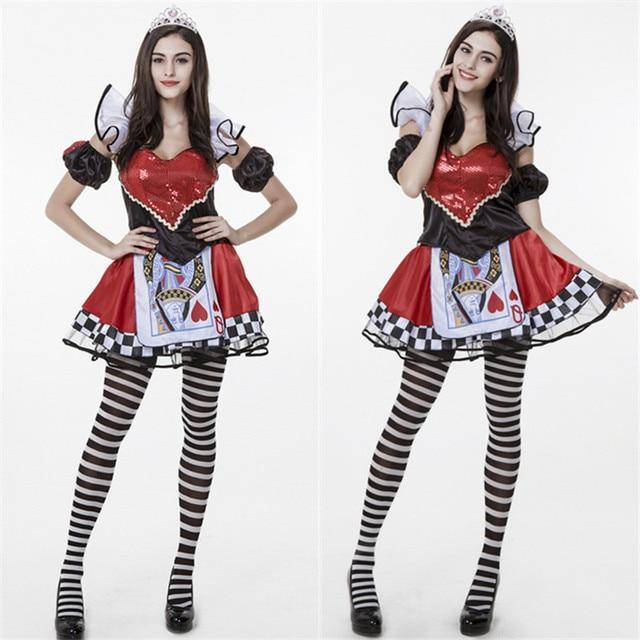 Kostuum Pak Queen Poker Classic Cosplay Sexy Falbala Casino Showgirl Vegas Lolita Kerstmis Kleding Bunny Las C5PwvqP1