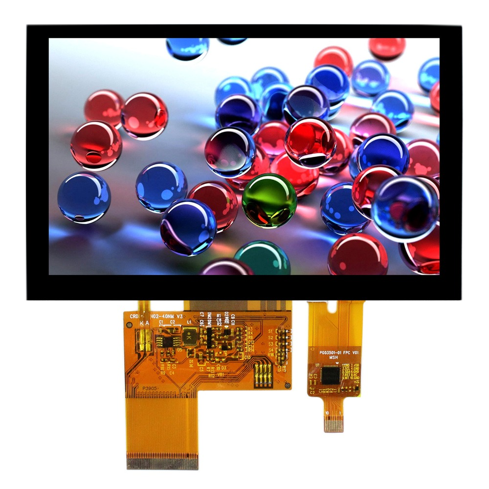 5inch LCD Screen With Capacitive Touch Panel 800x480 40Pin LCD Display 5inch lcd screen with capacitive touch panel 800x480 40pin lcd display